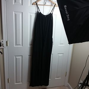 BECCA Black Drawstring Jumpsuit